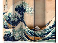 Paraván - Hokusai: The Great Wave off Kanagawa (Reproduction) II [Room Dividers]